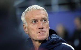 Didier Deschamps lors de France-Moldavie le 14 novembre 2019.