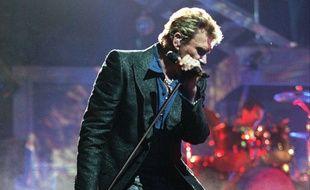 Johnny Hallyday en concert à l'Olympia le 17 juin 2000