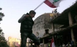 à beyrouth pendant une manifestation contre le gouvernement à l'appel du Hezbollah le 1 decembre