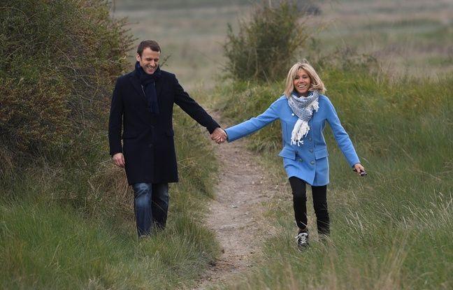 Emmanuel et Brigitte Macron au Touquet en avril 2017.