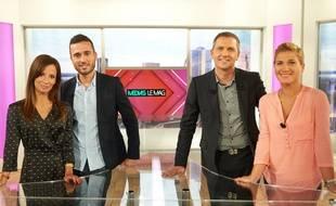 Alice Antheaume, Julien Bellver, Thomas Hugues et Laetitia Krupa dans «Médias le mag»