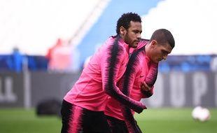 Neymar et Verratti avant la finale de la Coupe de France la saison passée.