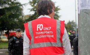 Le dépôt de carburant de Vern-sur-Seiche, près de Rennes, a été partiellement bloqué par des syndicats de routiers le 25 septembre 2017.