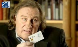 Gérard Depardieu dans un spot publicitaire pour la banque russe Sovetsky.