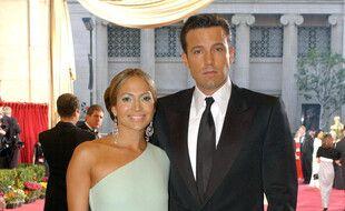 Les anciens fiancés Jennifer Lopez et Ben Affleck en 2003