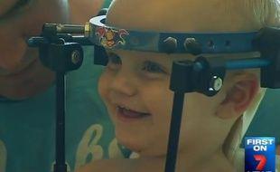Le jeune Jackson Taylor a survécu à une opération de la colonne vertébrale après un grave accident de la route.
