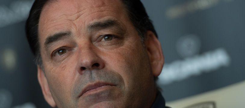 Stéphane Moulin, 53 ans, a passé dix ans sur le banc du SCO. Il était très ému dimanche soir.