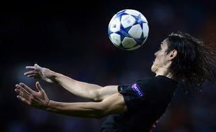 Cavani lors du match Real Madrid - PSG, le 3 novembre 2015.