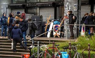 L'entrée de la fac de Droit de Lille avait été bloquée par des étudiants la semaine dernière.