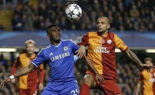 Samuel Eto'o lors du match entre Chelsea et Galatasaray le 18 mars 2014.