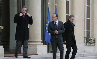 Philippe Vigier, Jean-Christophe Lagarde et François Zocchetto, le 22 janvier 2016.