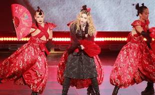 La chanteuse Madonna lors du Rebel Heart Tour