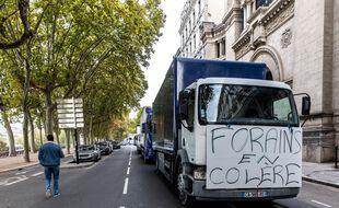 Une manifestation de forains à Lyon le 9 octobre 2020.