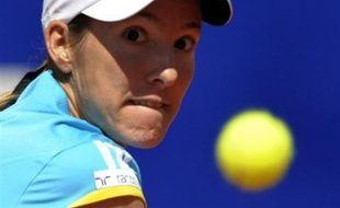 """La Belge Justine Henin, numéro un mondiale de tennis, a annoncé mercredi lors d'une conférence de presse à Limelette (centre de la Belgique) qu'elle mettait """"un terme définitif"""" à sa carrière."""