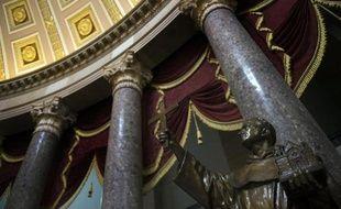 Une statue du père Junipero Serra exposée dans le Capitole à Washington le 30 janvier 2015