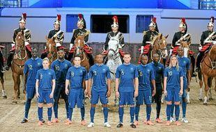 Présentation du nouveau maillot de l'équipe de France de foot, le 16 avril 2012 aux Célestins à Paris.