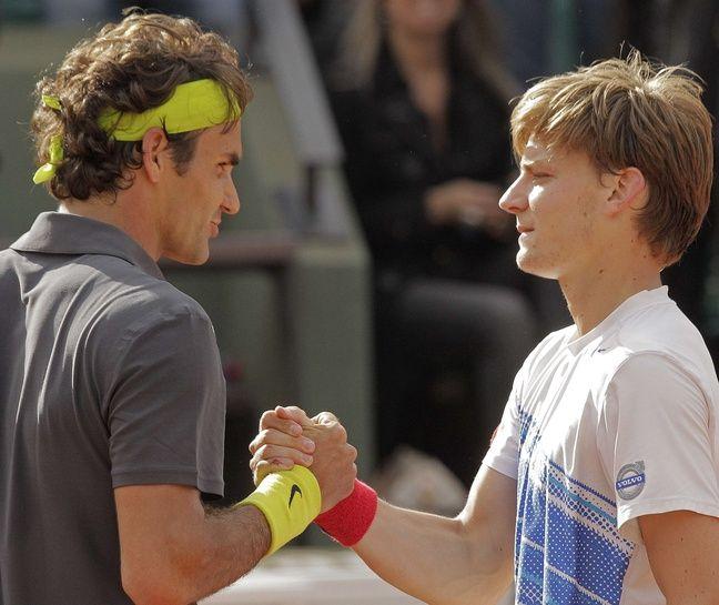 La légende Goffin et un fan (Roland-Garros 2012)