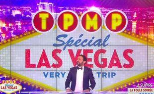 Cyril Hanouna a animé le prime «TPMP - Spécial Las Vegas» sur D8, le 21 avril 2016.