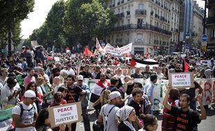 Manifestation de soutien au peuple peuple palestinien à Paris, le 19 juillet 2014.