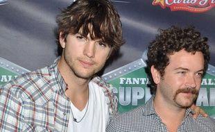 Ashton Kutcher et Danny Masterson à Las Vegas en 2010.