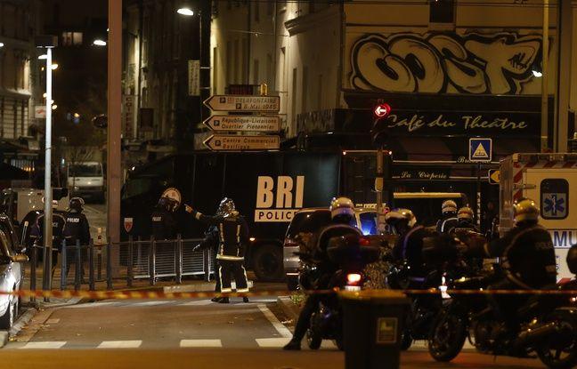 Opération de police à Saint-Denis (Seine-Saint-Denis), le 18 novembre 2015, cinq jours après les attentats de Paris.
