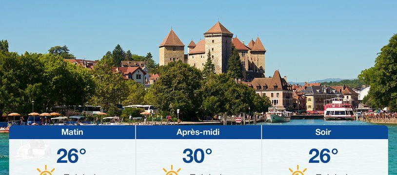 Météo Annecy: Prévisions du mercredi 16 juin 2021