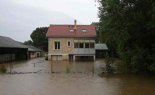 Une maison inondée dans la Marne