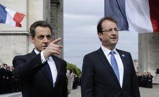 """Le """"duo présidentiel"""" qu'ont formé mardi lors des cérémonies du 8 Mai le président élu François Hollande et le vaincu Nicolas Sarkozy offre une """"parenthèse républicaine"""" avant la reprise de combats """"sans merci"""" pour les législatives de juin, estiment mercredi les éditorialistes."""
