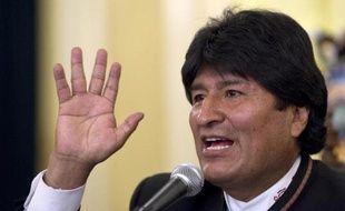 Le président bolivien Evo Morales le 13 octobre 2014 à La Paz