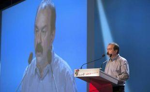 Le secrétaire général de la CGT, Philippe Marinez, lors du congrès de son syndicat à Marseille, le 18 avril 2016