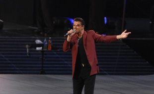 Le chanteur George Michael lors de son concert à Wembley en 2007
