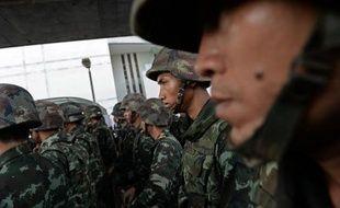 Des soldats de l'armée thaïlandaise à Bangkok, le 24 mai 2014