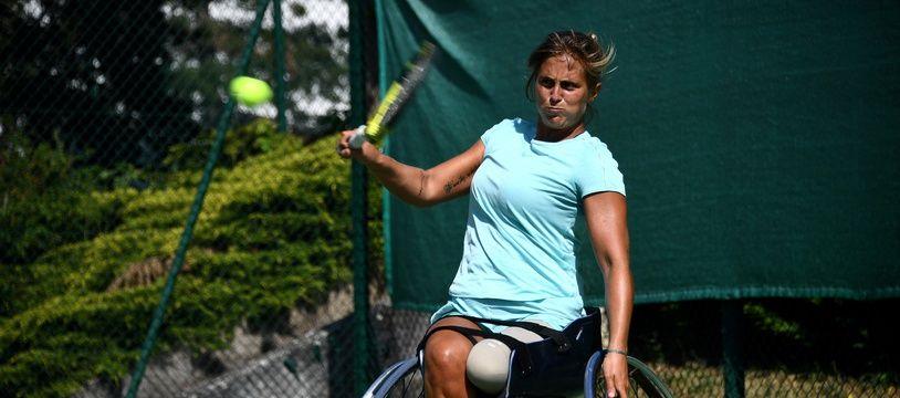 L'athlète Pauline Deroulède à l'entraînement à Feucherolles (Yvelines) en mai dernier (photo d'illustration)