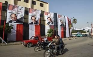 Une rue du Caire en Egypte (Illustration).