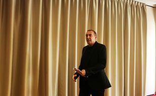 Jean-Marc Morandini lors de sa conférence de presse à Paris le 19 juillet 2016
