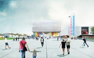 Vue d'artiste du futur Parc des expositions de Toulouse