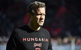 Fabien Galthié lorsqu'il était entraîneur du RC Toulon, le 3 mars 2018.