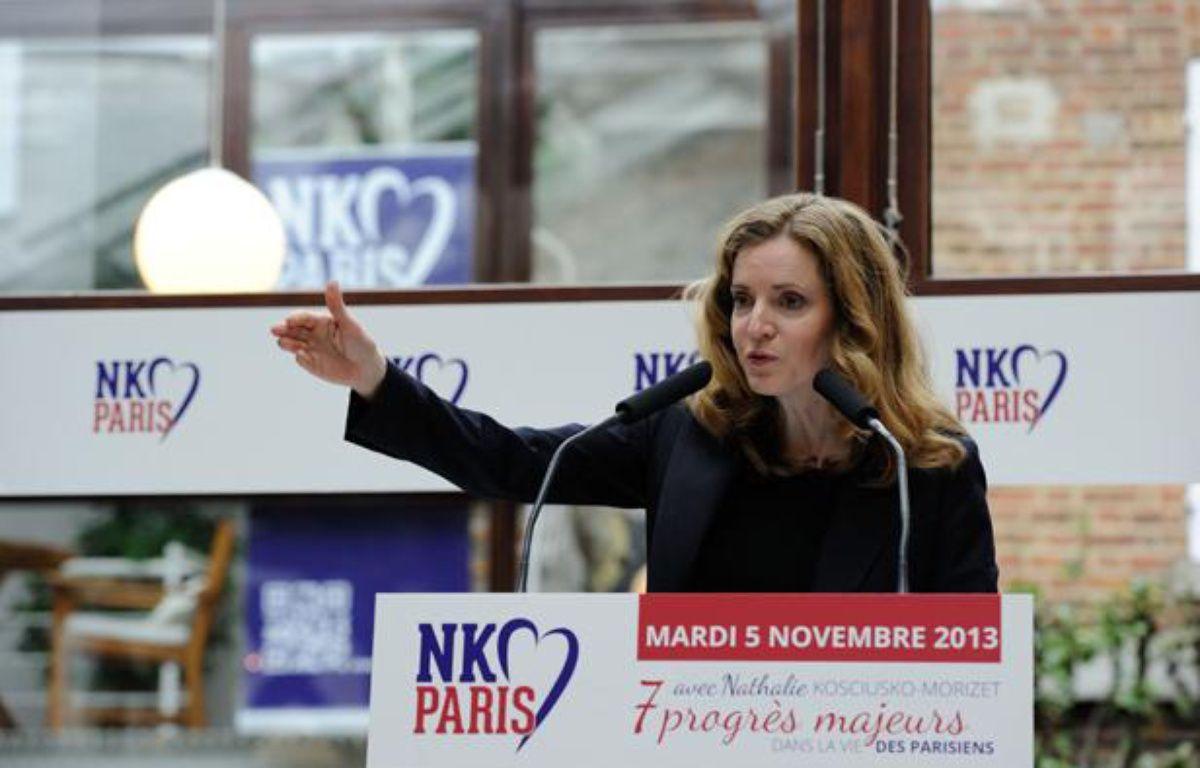 La candidate UMP à la Mairie de Paris, Nathalie Kosciusko-Morizet a présenté mardi 5 novembre son projet pour les municipales 2014. – WITT/SIPA