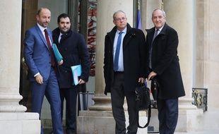 Les représentants du secteur des assurances reçus par Emmanuel Macron, le 18 décembre 2018 à l'Elysée.