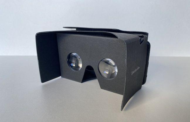 Un cardboard dans lequel on glisse son smartphone pour regarder ses prises de vues en 3D.