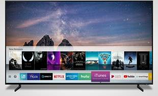Plusieurs téléviseurs haut de gamme de Samsung dévoilés au CES seront compatibles en 2019 avec Airplay 2 d'Apple et intégreront une app iTunes.
