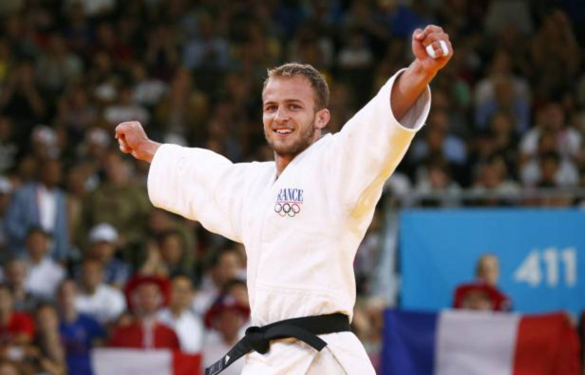 Le judoka français Ugo Legrand, lors de sa troisième place aux Jeux olympiques de Londres, le 30 juillet 2012. – REUTERS