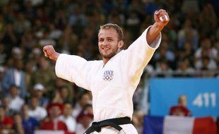 Le judoka français Ugo Legrand, lors de sa troisième place aux Jeux olympiques de Londres, le 30 juillet 2012.