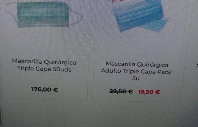 De prix très variables sur ce site espagnol.