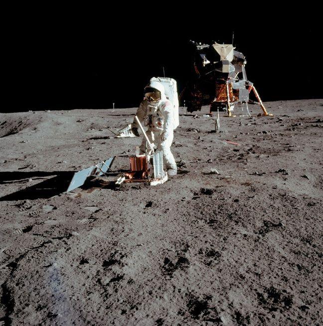 Buzz Aldrin sur la Lune, le 21 juillet 1969, sur une photo prise par Neil Armstrong.