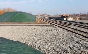 Tout la logistique pour le chantier de la LGV Nord sera réglée près de Lille.