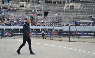 Zinedine Zidane, le 15 septembre 2014 dans les arènes d'Arles.