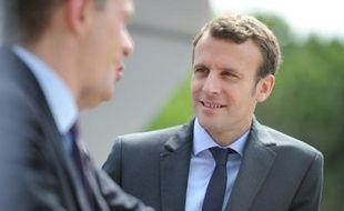 Le ministre de l'Economie Emmanuel Macron à La Grande-Motte le 27 mai 2016