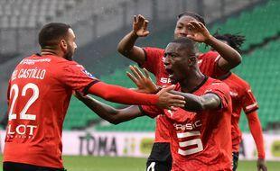 Toute la rage de Serhou Guirassy après son nouveau but inscrit, ce samedi dans le Chaudron. JEAN-PHILIPPE KSIAZEK