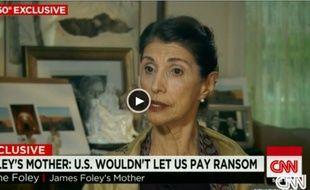 La mère de James Foley, l'otage assassiné par les djihadistes, s'exprime sur CNN, le 12 septembre 2014.